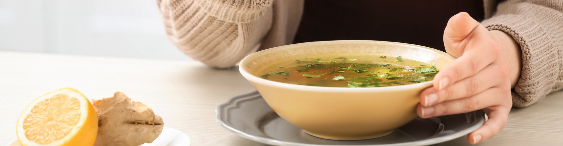 nutritious soup in a bowl
